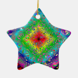 Psychedeli colors and Crystal Christmas Ornament