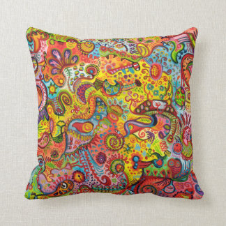 Psychedelic Abstract Art Pillow