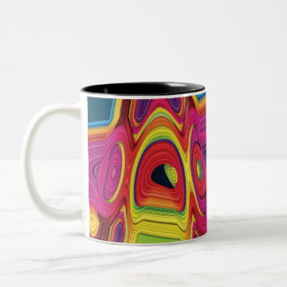 Psychedelic Abstract Colorful Design on Coffee Mug