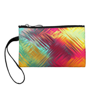 Psychedelic Abstract Colorful Pattern Coin Purse