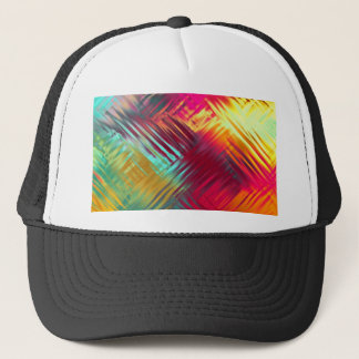 Psychedelic Abstract Colorful Pattern Trucker Hat