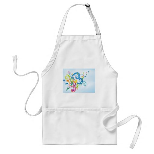 psychedelic abstract colour splash apron