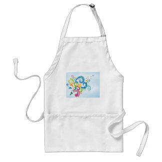 psychedelic abstract colour splash standard apron