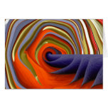 Psychedelic Abstract Customisable Greeting Card