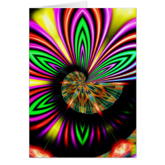 Psychedelic Abstract Customizable Greeeting Card