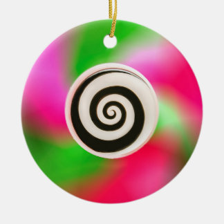 Psychedelic Abstract Macro Windmill Toy Ornament