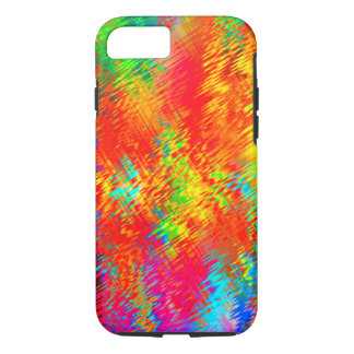 Psychedelic Abstract Neon Bright Colorful Pattern iPhone 8/7 Case