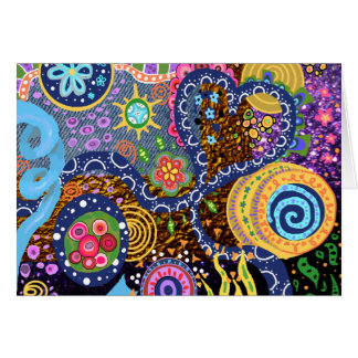 Psychedelic abstract pattern card