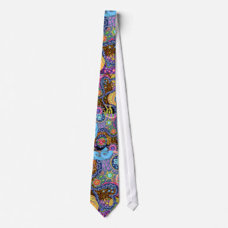 Psychedelic abstract pattern tie