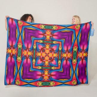 Psychedelic Acid Trip Sexy Mandala Fleece Blanket