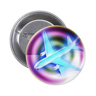 Psychedelic Aeroplane 6 Cm Round Badge