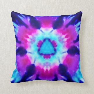 Psychedelic Alien Invasion Rainbow Throw Pillow