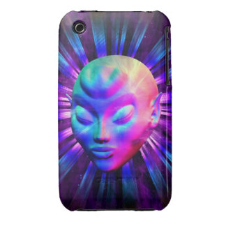 Psychedelic Alien Meditation iPhone 3G/3Gs Cases iPhone 3 Case-Mate Cases