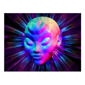 Psychedelic Alien Meditation Postcards