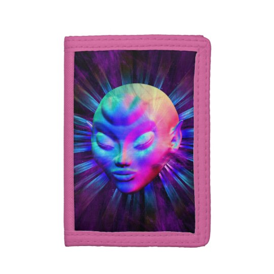 Psychedelic Alien Meditation Wallet