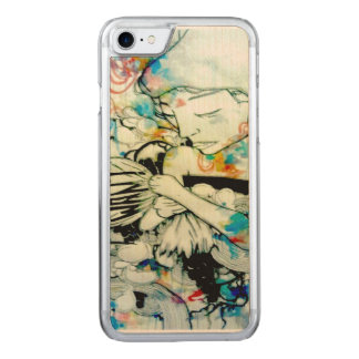 psychedelic art, abstract portrait iphone 6 carved iPhone 8/7 case