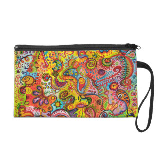 Psychedelic Art Wristlet Purses