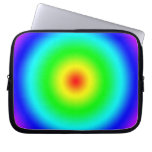 Psychedelic Art Gifts: Funky Rainbow Circles Computer Sleeve