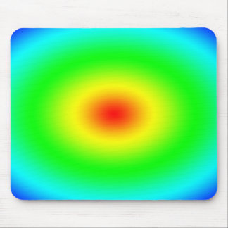 Psychedelic Art Gifts: Funky Rainbow Circles Mouse Pads