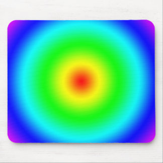 Psychedelic Art Gifts: Funky Rainbow Circles Mouse Pad