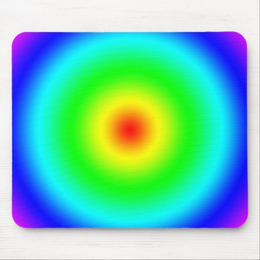 Psychedelic Art Gifts: Funky Rainbow Circles Mousepad