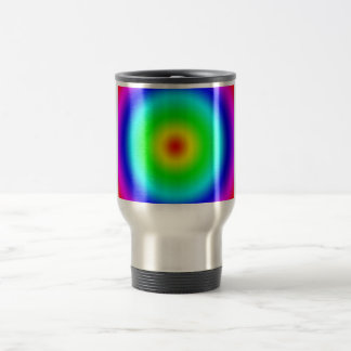 Psychedelic Art Gifts: Funky Rainbow Circles Coffee Mugs