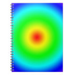 Psychedelic Art Gifts: Funky Rainbow Circles Notebooks