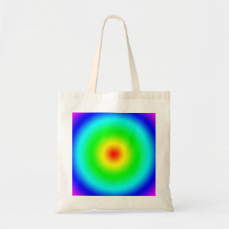 Psychedelic Art Gifts: Funky Rainbow Circles Tote Bag