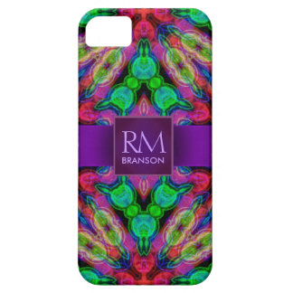 Psychedelic Batik Monogram Case-Mate™ Barely There iPhone 5 Case