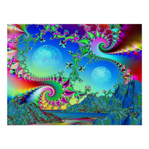 Psychedelic Bay - Poster