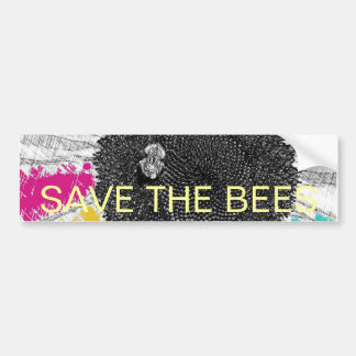 Psychedelic Bee Bumper Sticker