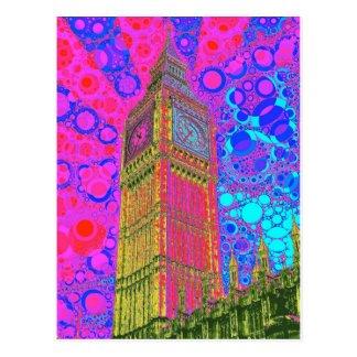 Psychedelic Big Ben Postcard