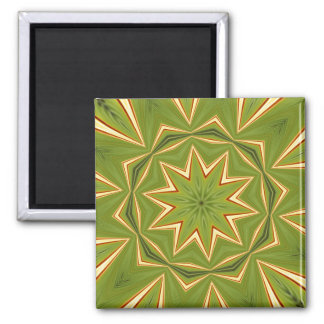 Psychedelic Bliss Abstract Kaleidoscope Square Magnet