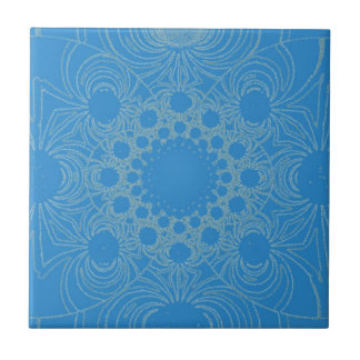 Psychedelic Blue Art Tile
