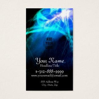 Psychedelic Blue Burst Fractals Business Card