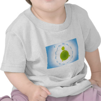 psychedelic blue clouds green earth shirt