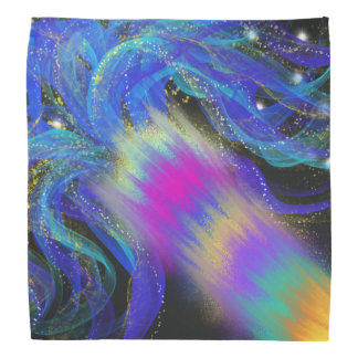 Psychedelic Blue Pink Purple Abstract Art Design Bandana