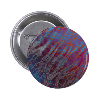 Psychedelic Blue Red Zebra 6 Cm Round Badge