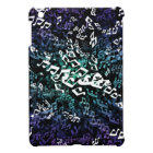 Psychedelic Blues Music Notes iPad Mini Case