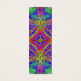 psychedelic bookmark mini business card