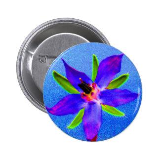 Psychedelic Borage 6 Cm Round Badge