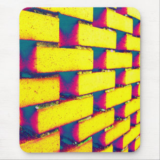 Psychedelic Bricks Mouse Pad
