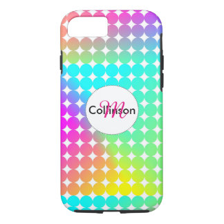 Psychedelic Bright Colorful Rainbow Design iPhone 8/7 Case