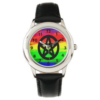 Psychedelic Bright Colors and Pentacle Watch