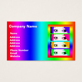 Psychedelic Bright Eyes Business Card