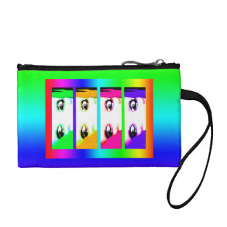Psychedelic Bright Eyes Coin Purse