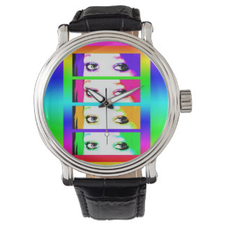 Psychedelic Bright Eyes Watch