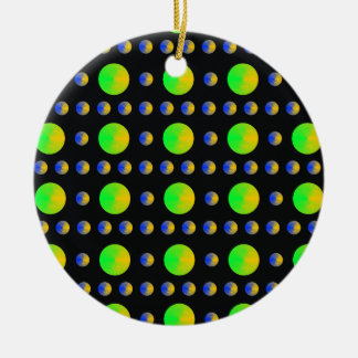 Psychedelic Bubbles Christmas Ornament