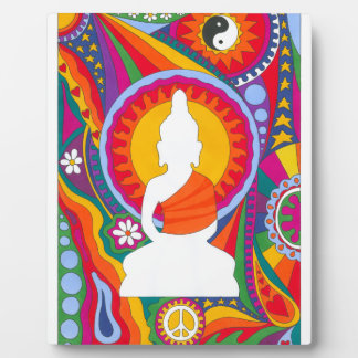 Psychedelic Buddha Plaque
