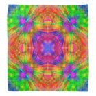 Psychedelic Burst, colourful tie dye bandanna